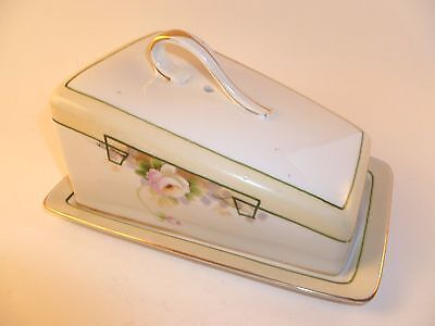 Antique Nippon Art Deco Cheese Dish Server with Cover
