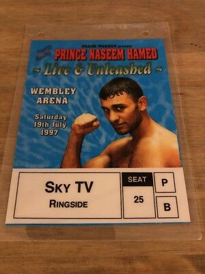 Prince Naseem Hamed - Official Laminated Press Pass / Credential