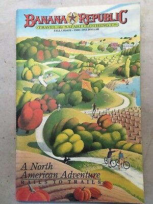 Banana Republic Catalog Fall Update 1988 Excellent Condition