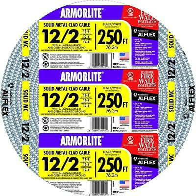 Southwire Solid Armorlite Cable CU MC 12/2 x 250 ft. Wiring for Power Lighting