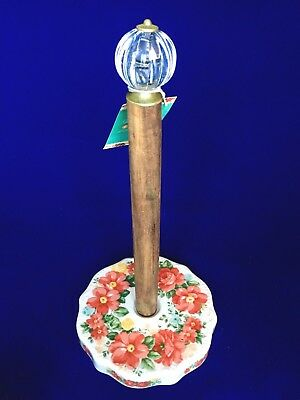 Pioneer Woman Vintage Floral Paper Towel Holder Acrylic Top FREE SHIPS SAME DAY!