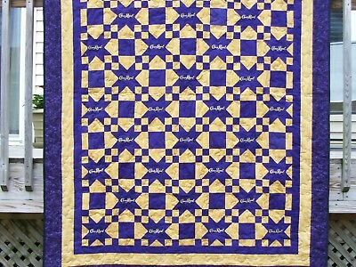 Crown Royal Quilt 32 bags 70x86