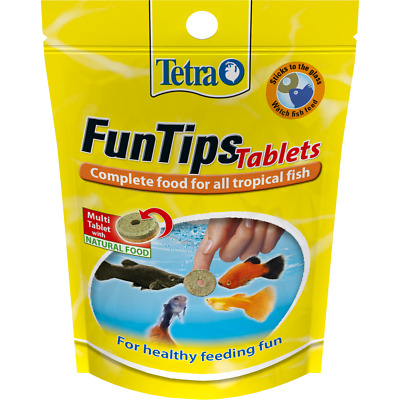 TETRA Fun Tips Adhesive Fun Food 20tab/8g,75tab/30g Stick to glass