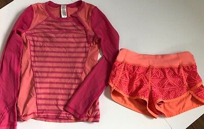 2 Piece Ivivva Lot Shirt And Shorts Size 6