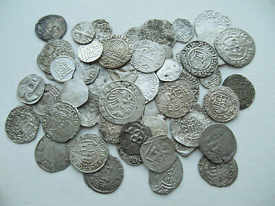 Lot Of 50 Pcs Medieval Silver Coins #u7