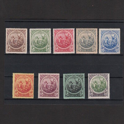Barbados 1916-1918 Selection Of Mint Stamps To Three Shillings