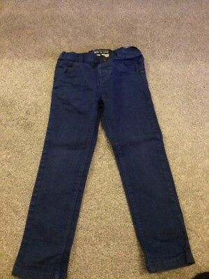 Next Boys Navy Blue Skinny Jeans, Age 3-4 Years, Used