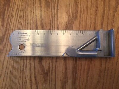"""Letterpress Composing Stick H.b.rouse 33 Pica Stainless Steel """"The Pica Stick"""""""