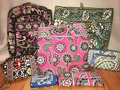 Mixed Lot Vera Bradley Wallets, Totes, Backpack *PRE-OWNED*
