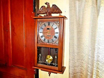 Vintage Centurion 35 Day Key Wind Chime  Wall Clock