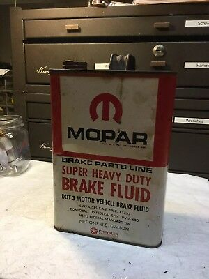 Vintage Mopar Heavy Duty Brake Fluid One Gallon