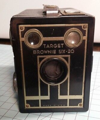 Brownie Target Six-20 Box Camera Art Deco for parts