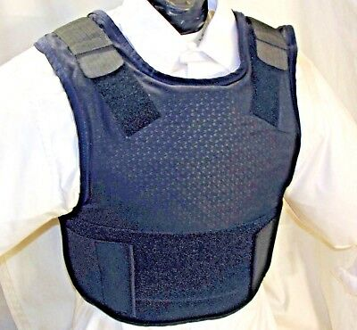 Small IIIA Concealable Body Armor Carrier Bullet Proof Vest Kevlar Inserts