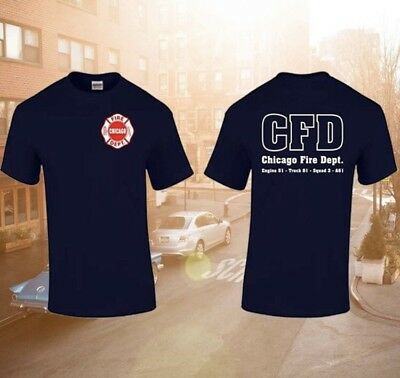 CHICAGO FIRE DEPT: US Feuerwehr Shirt ✪ Rüstgruppe/Rescue Squad ✪ CFD ✪