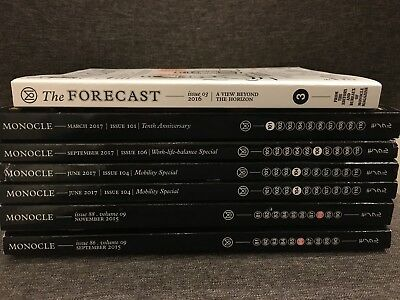 Monocle Magazine 6 issues + The Forecast No. 3