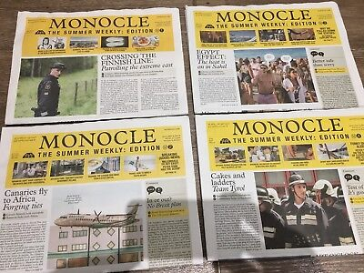 Monocle Summer Weekly Newspaper Editions - 1-4 Mint Condition