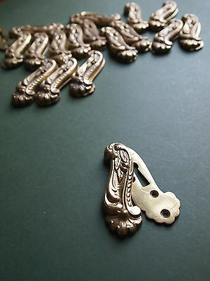 Ornate decorative cast brass door keyhole escutcheon French Roccoco style #1