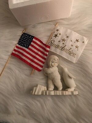 Snowbabies Its A Grand Old Flag Ceramic Holiday Collectible Figurine