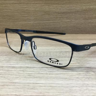 37255fce89 Oakley Steel Plate Eyeglasses Powder Midnight OX3222-0352 Authentic 52mm