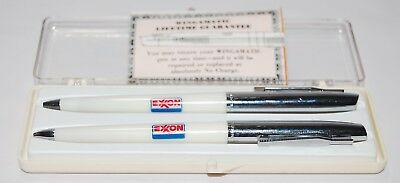 Vintage EXXON WINGAMATIC PEN & PENCIL BOXED SET PRESENTATION GIFT NEW IN BOX