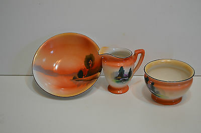 Noritake Made In Japan Cream And Sugar Set With Small Bowl