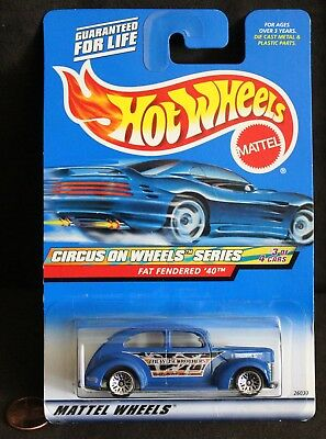 "Diecast Hot Wheels Car, ""Circus On Wheels Series"" Fat Fendered '40"