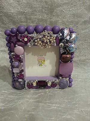 Picture Frame OOAK Handcrafted Vintage modern Jewelry tree Christmas
