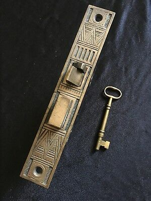 ANTIQUE P & F Corbin Entry MORTISE DOOR LOCK Patented Nov. 19/1878