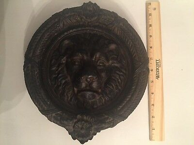 Cast Iron Antique/Vintage Style Lion's Head Door Knocker Rustic Large