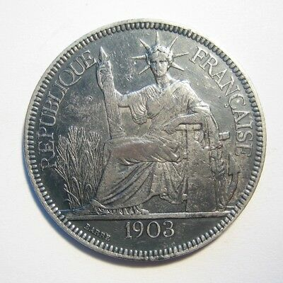 French Indo-China 1903-A Silver 1 Piastre