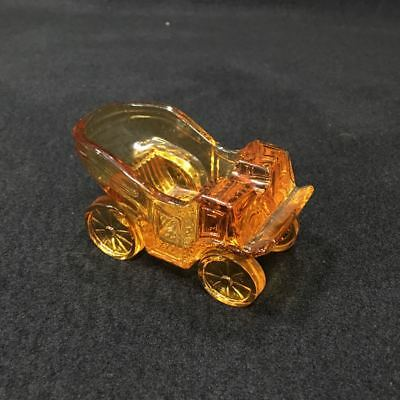 Vintage mid-century Glass Ashtray Buggy Carriage Old Car One Rest-Mint condition