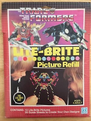 VINTAGE Transformers Lite Brite Picture Refill 1985 Hasbro (opened) HARD TO FIND