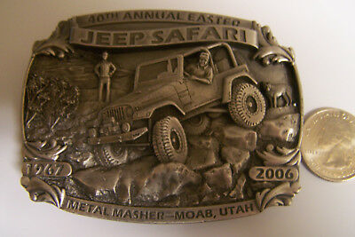 Jeep Safari Collectable Belt Buckle 40Th Annual Easter 1967-2006 Moab, Utah Nr