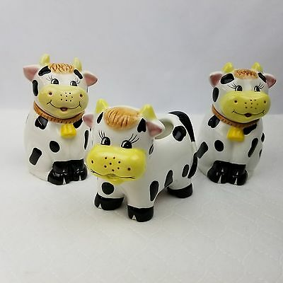 Cow Creamer and Sugar Bowl Set by Houston Harvest Gift Products 1 Cream 2 Sugar