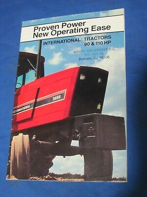Nice Vintage Ih International Farm Tractors Brochure 90 & 110 Hp