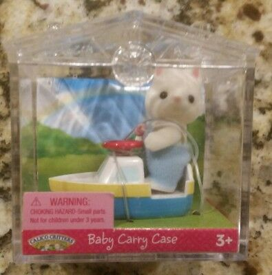 NEW Calico Critters - Baby Carry Case - Cat and Toy Boat