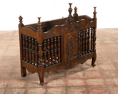 18th century Hand Carved Cherry Wood French Panettiere