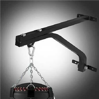 NEW Heavy Duty Steel Wall Mounted Fitness Workout Routine Boxing Bag Rack- Black
