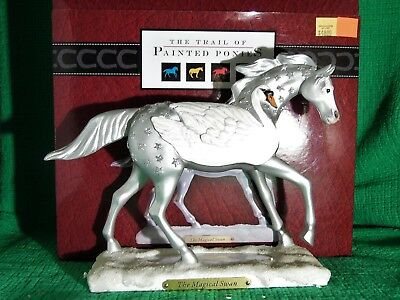 Retired & Rare ~ THE MAGICAL SWAN ~ Trail of Painted Ponies - 1E/ 5,018 ~ #40213