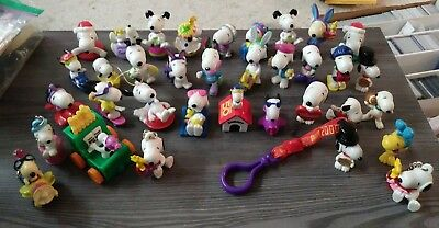 Vintage Lot Of 36 Snoopy Peanuts PVC Figures 70s 80s Collection Charlie Brown