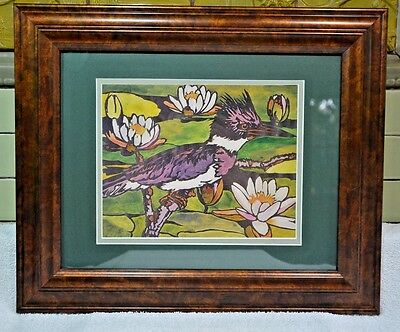 "Mission Style Bungalow  Arts & Crafts Framed Print- Lilypads 18""X15"""