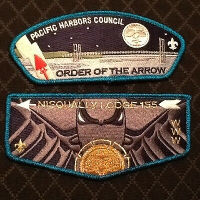 Nisqually Lodge 155 Order of the Arrow 2018 NEW CSP & LODGE FLAP