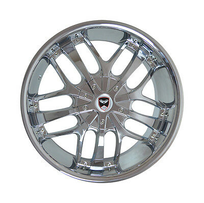 4 Gwg Wheels 20 Inch Chrome Black Savanti Rims Fits Lincoln