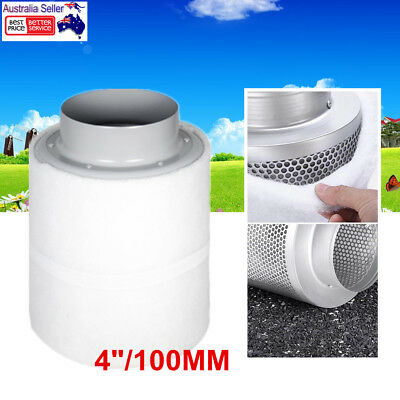 Hydroponic Carbon Filter For Inline Exhaust Fan Grow Tent Ventilation 4''100mm