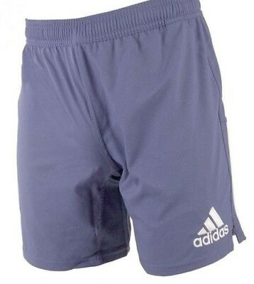 (Large, Blue) - Adidas 3 Stripe Climacool Mens Rugby Training Shorts. Best Price