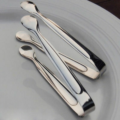 11cm Stainless Steel  Sugar Clamp Tongs Clip Ice Cube Coffee Bar Buffet Kitchen
