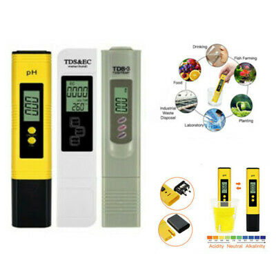 Digital PH Meter LCD TDS Water Purity PPM Filter Hydroponic Pool Tester Pen UKEY