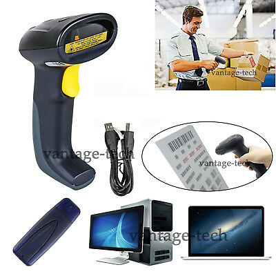 Wireless/Wired Handheld Bluetooth USB Laser Barcode Scanner Scan POS Gun Reader