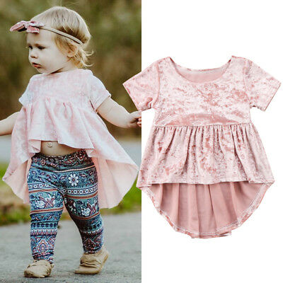AU Stock Newborn Baby Girls Velvet Dress Kids Princess Skirt Kids Outfit Clothes