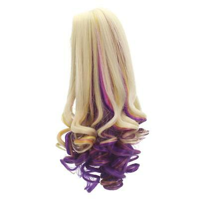 "Purple Curly Hair Wig for 18"" American Girl Dolls Hairpiece Making Repair"